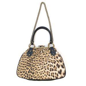 Vintage Fashion Express Animal Leopard Print Purse